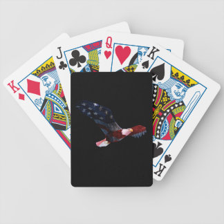 Patriotic Bald Eagle in flight Poker Deck