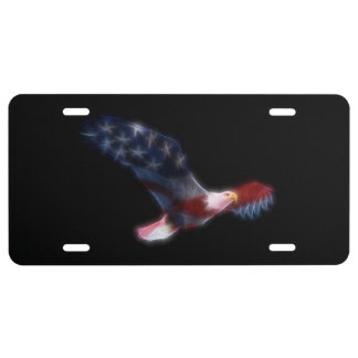 Patriotic Bald Eagle License Plate