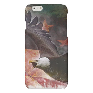 Patriotic Bald Eagle Painting iPhone Case