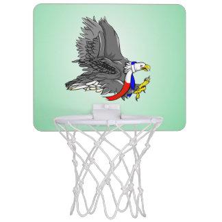 Patriotic Bald Eagle Red White and Blue Scarf Mini Basketball Backboard