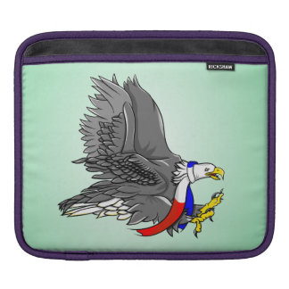 Patriotic Bald Eagle Red White and Blue Scarf Sleeves For iPads
