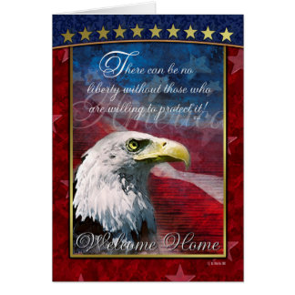 Patriotic Bald Eagle Welcome Home Greeting Card
