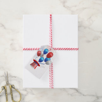 Patriotic Balloons Pack Of Gift Tags