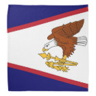 Patriotic bandana with Flag of American Samoa