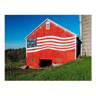 Patriotic Barn Postcard