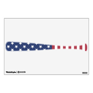 Patriotic Baseball Bat Wall Decal