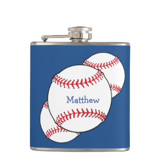 Patriotic Baseball Flask