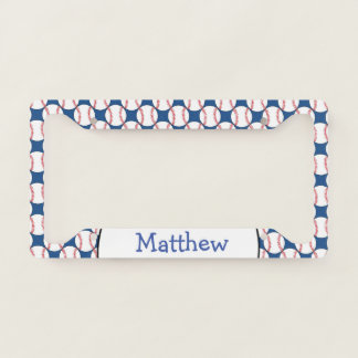 Patriotic Baseball Sports License Plate Frame