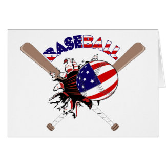 PATRIOTIC BASEBALL USA FLAG GIFTS CARD