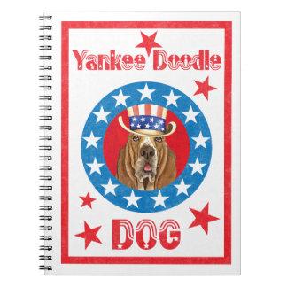 Patriotic Basset Spiral Note Book