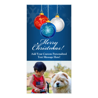 Patriotic Bauble Christmas Card