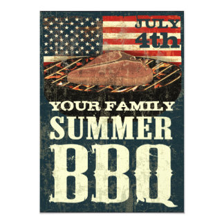 Patriotic BBQ Invitations