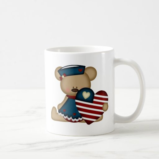 Patriotic Bear (blue) Mug