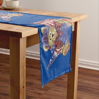Patriotic Bear Short Table Runner