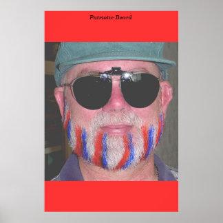 Patriotic Beard Posters