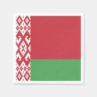 Patriotic Belarusian Flag Disposable Napkins
