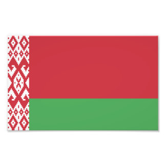 Patriotic Belarusian Flag Photo Print