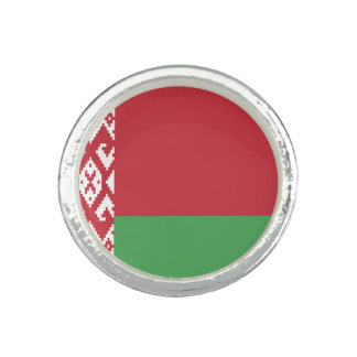 Patriotic Belarusian Flag Ring