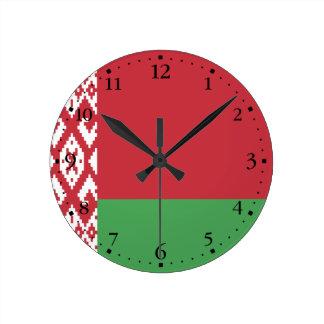 Patriotic Belarusian Flag Round Clock