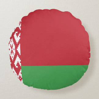 Patriotic Belarusian Flag Round Pillow