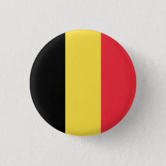 Patriotic Belgian Flag 1 Inch Round Button