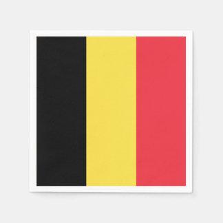 Patriotic Belgian Flag Paper Napkins