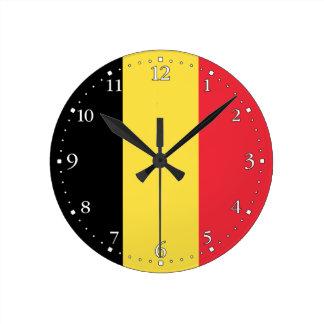 Patriotic Belgian Flag Round Clock