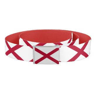 Patriotic Belt with flag of Alabama, U.S.A.