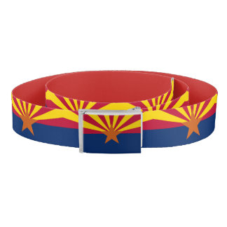 Patriotic Belt with flag of Arizona, U.S.A.