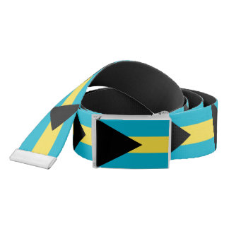 Patriotic Belt with flag of Bahamas