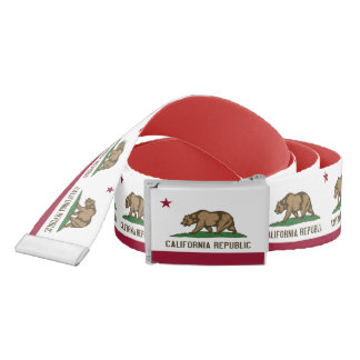 Patriotic Belt with flag of California