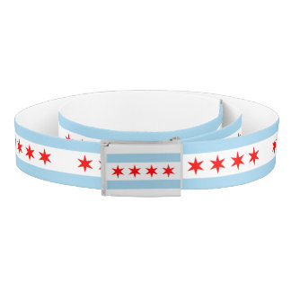 Patriotic Belt with flag of Chicago City, U.S.A.