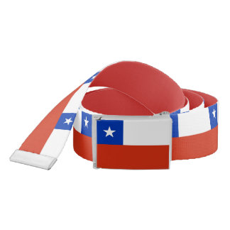 Patriotic Belt with flag of Chile