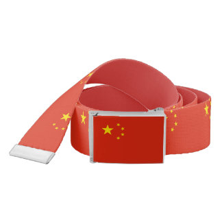 Patriotic Belt with flag of China