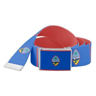 Patriotic Belt with flag of Guam, U.S.A.