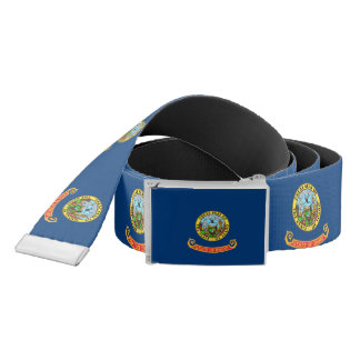 Patriotic Belt with flag of Idaho, U.S.A.