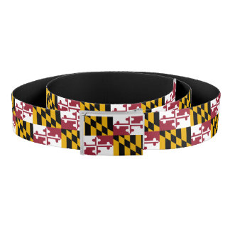 Patriotic Belt with flag of Maryland, U.S.A.