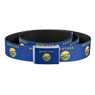 Patriotic Belt with flag of Montana, U.S.A.