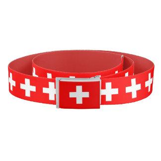 Patriotic Belt with flag of Switzerland