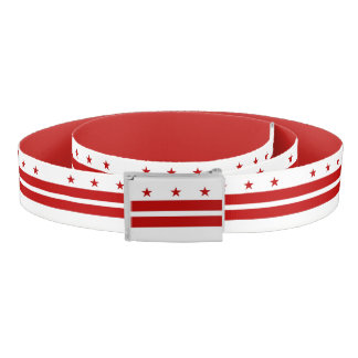 Patriotic Belt with flag of Washington DC