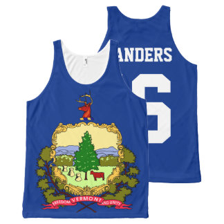 Patriotic Bernie Sanders 2016 Vermont State Flag All-Over-Print Tank Top