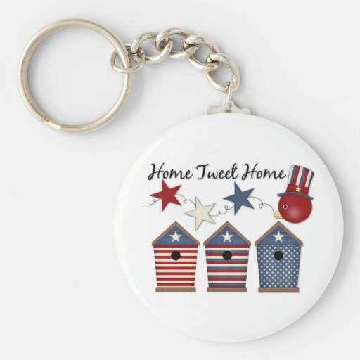 Patriotic Birdhouses (12) Key Chains