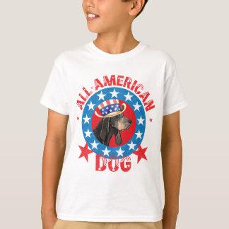Patriotic Black and Tan Coonhound T-Shirt