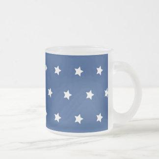 Patriotic Blue and White Stars Freedom Coffee Mug