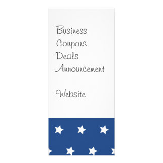 Patriotic Blue and White Stars Freedom Rack Cards