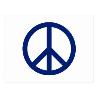 Patriotic Blue Peace Symbol Postcard