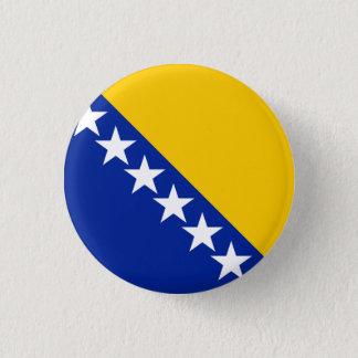 Patriotic Bosnia Herzegovina Flag 1 Inch Round Button