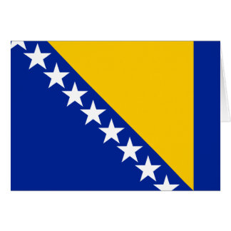 Patriotic Bosnia Herzegovina Flag Card