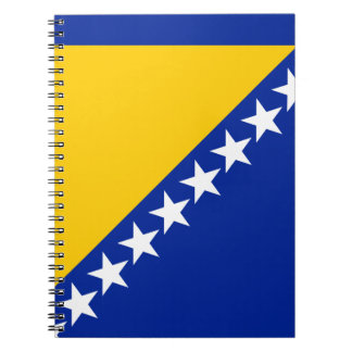 Patriotic Bosnia Herzegovina Flag Notebook