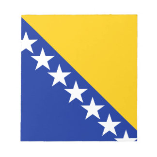 Patriotic Bosnia Herzegovina Flag Notepad